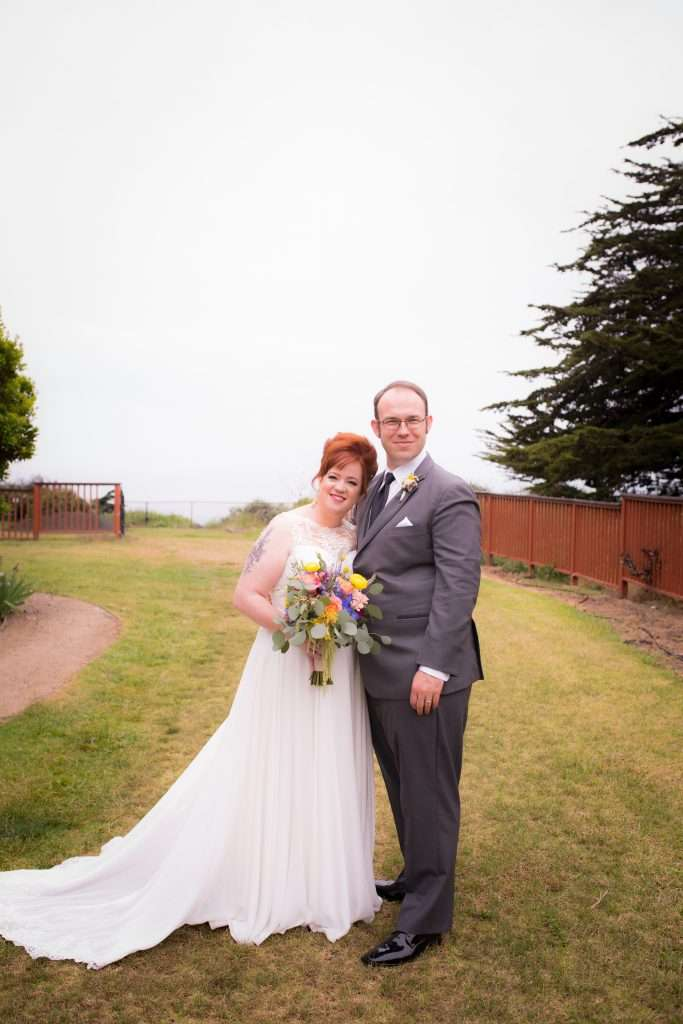 bride and groom at ragged point